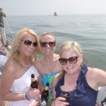 Three friends celebrating a birthday on the Schooner Woodwind!
