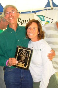 My Dad and I picking up our first place plaque in the Great Chesapeake Bay Schooner Race.