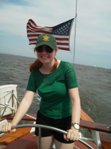 Paige sailing the Woodwind II