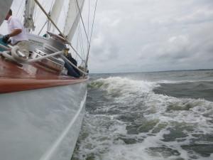 Blasting along at 9 knots