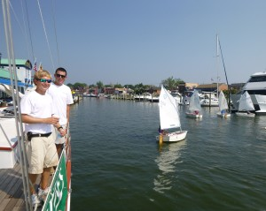 Chris and Sam check out the boat handling on Ego Alley