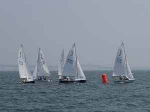Daysailers competing on the Chesapeake