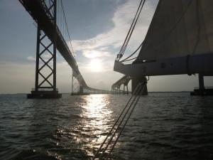 Sunset at the bay bridge