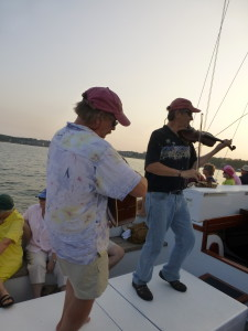 Eastport Oyster Boys play aboard Woodwind II