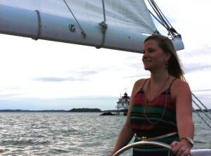 Gina and Thomas Point Lighthouse.