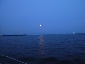 Full Moon rising over Kent Island