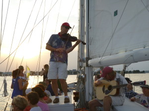 The Eastport Oyster Boys play on Woodwind during the sunset sail last year!