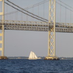 Woodwind Sailing under the Bay Bridge