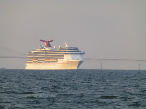 Cruise ship going down Chesapeake