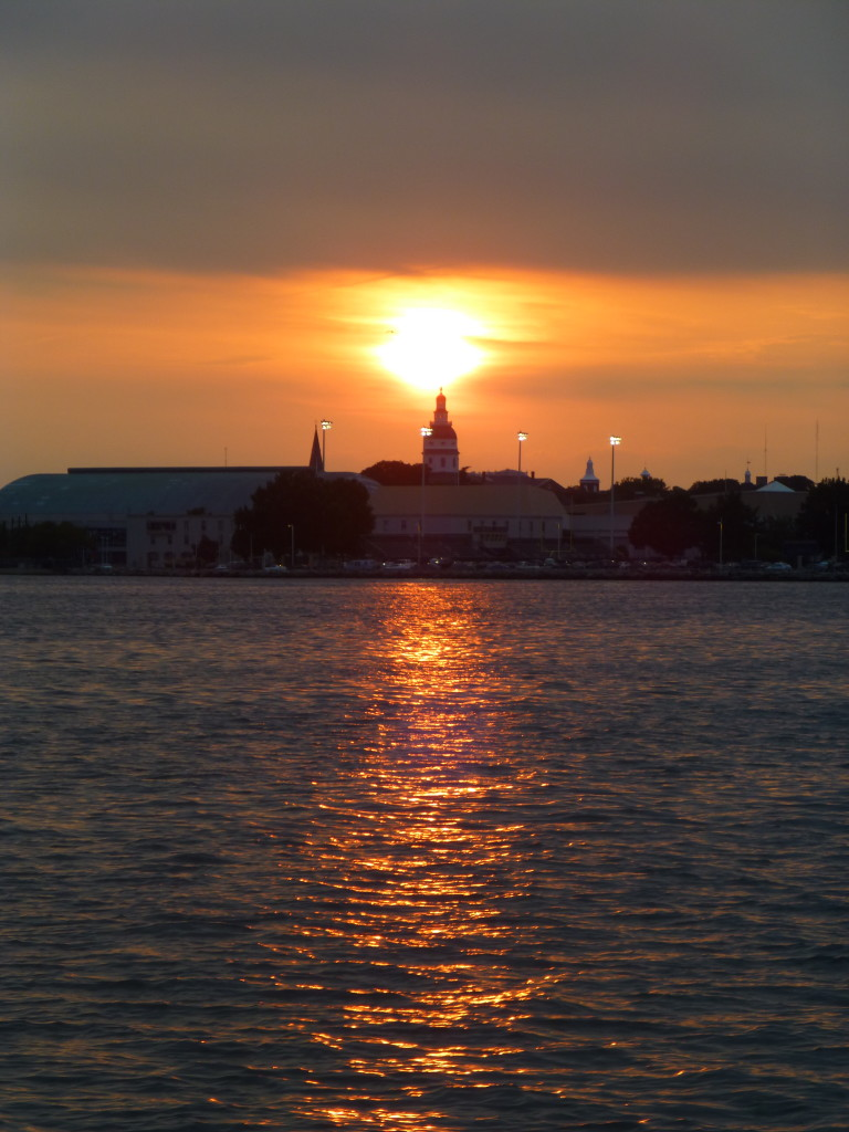 Sunset over Capital of Annapolis