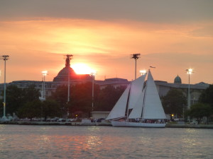 Sailing into Annapolis for Sunset