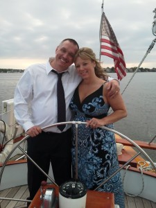 Mr & Mrs Bull, first time sailing together as a married couple!