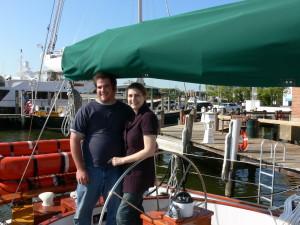 Johnathon and Hannah back at the Annapolis Waterfront Hotel dock.
