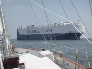 Car Carrier at anchor