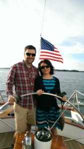 Chad and Beril Sailing the Woodwind