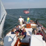 Great day of sailing on the Schooner Woodwind II