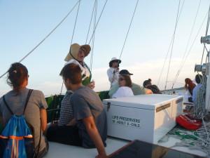 Janet Williman on the Schooner Woodwind