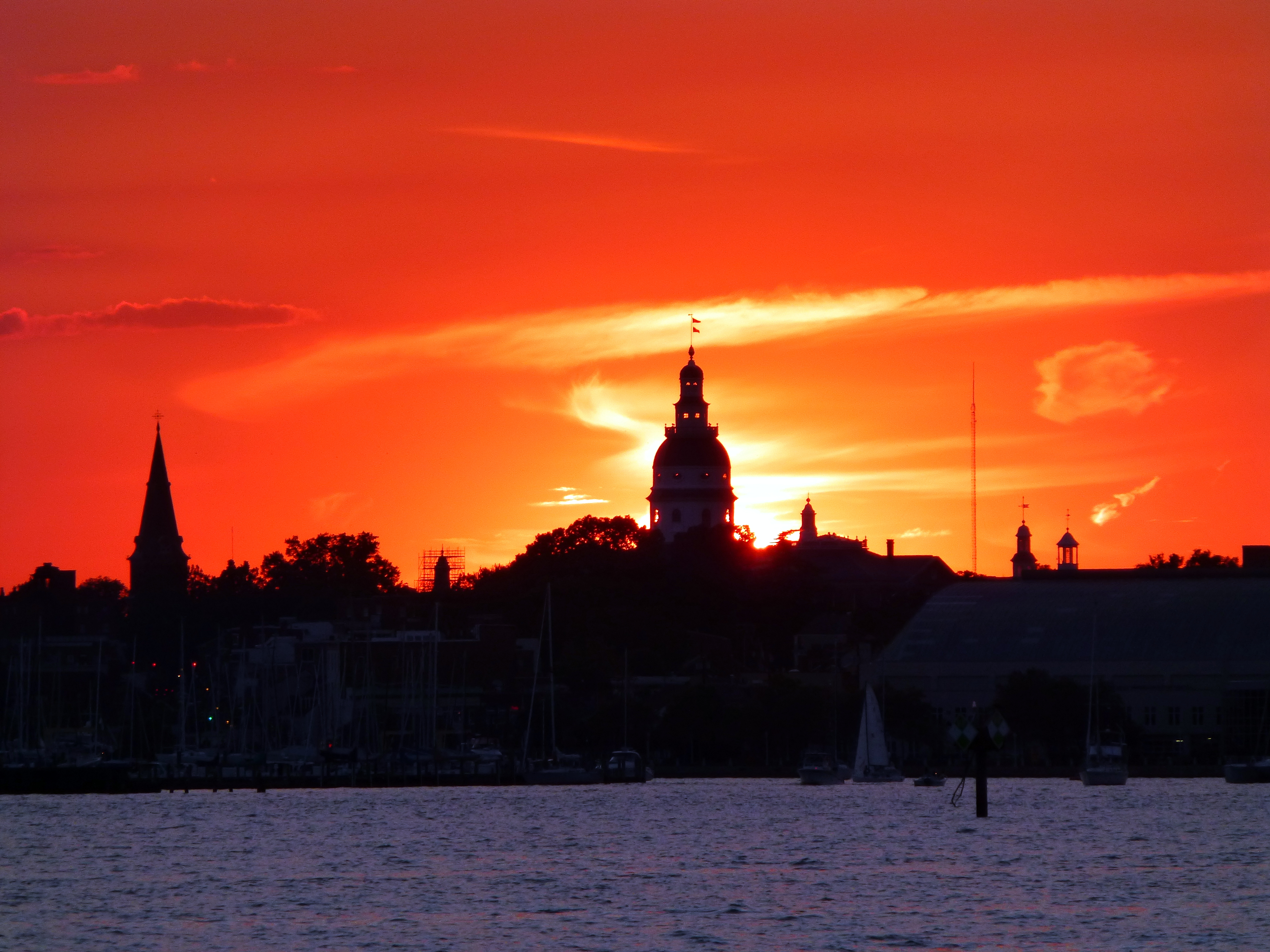 Sunset over Annapolis
