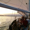 Gorgeous sunset from the helm of Woodwind