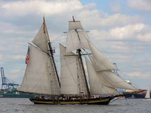 Pride of Baltimore II is an example of what would have been used during the War of 1812.