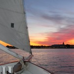 Annapolis City Skyline from Schooner Woodwind