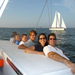 Having fun on Schooner Woodwind on Chesapeake