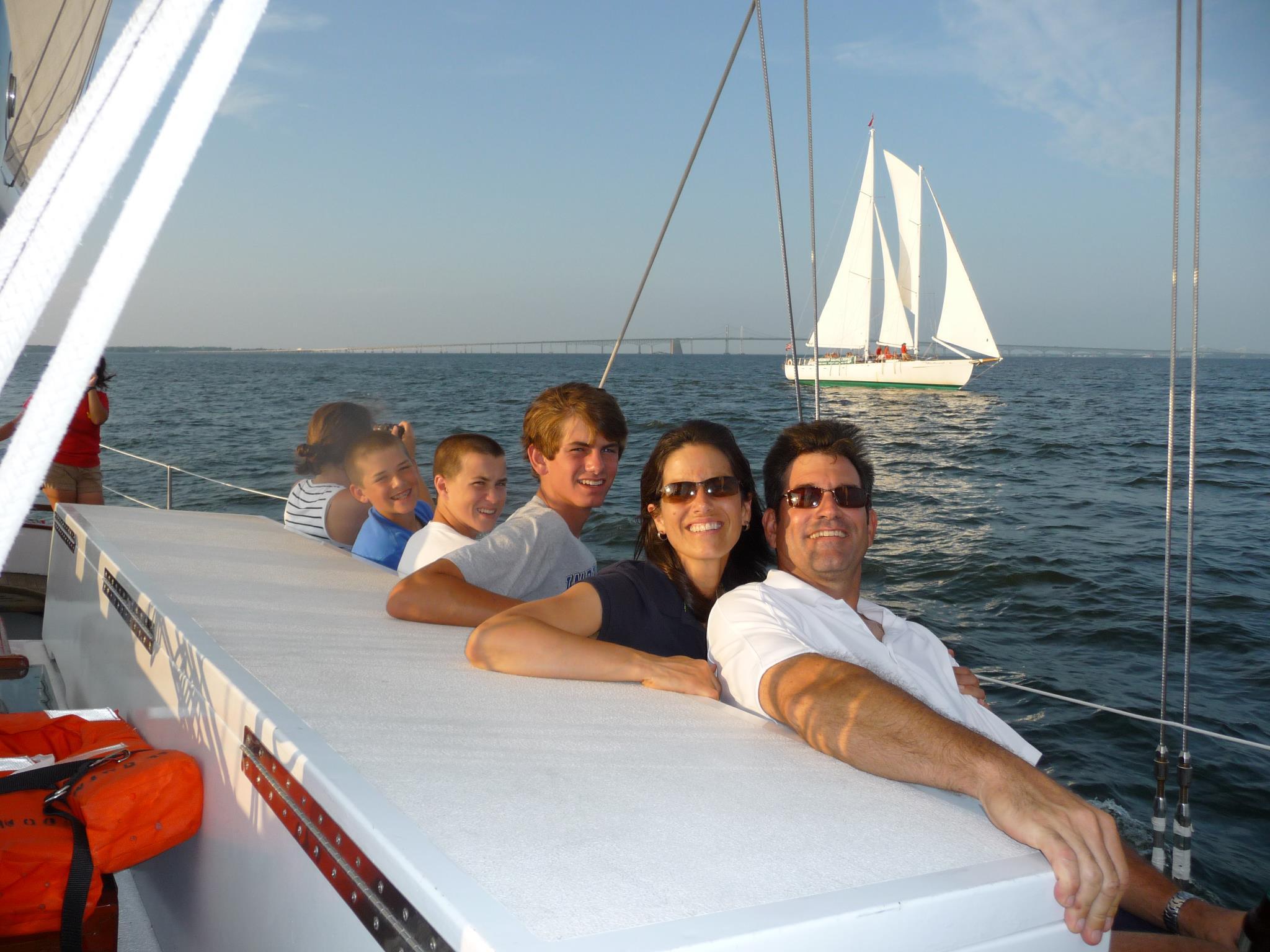 Having fun on Schooner Woodwind on Chesapeake