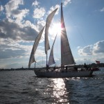 Sailing in Annapolis Harbor