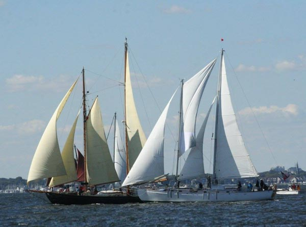 Schooners gathered for the Great Chesapeake Bay Race