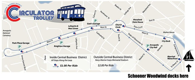 Ride the Annapolis Circulator, Parking Map