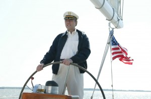 Christopher Walken at the helm of Schooner Woodwind II