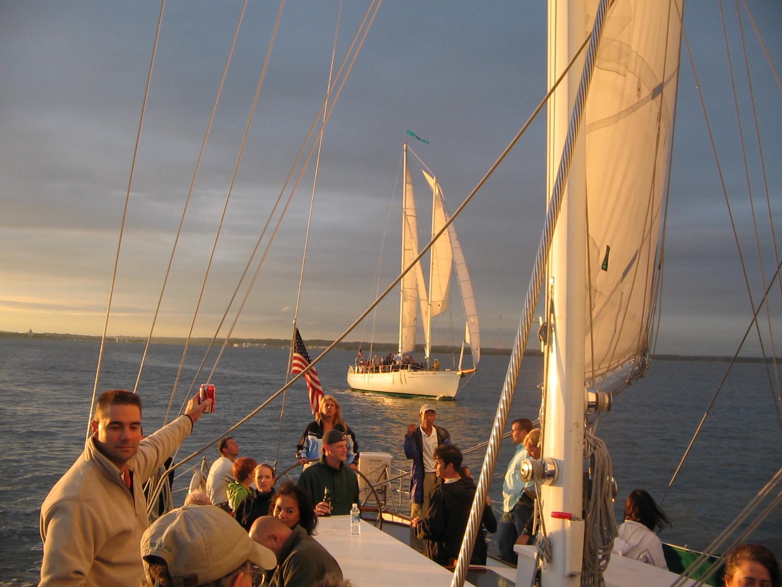 Team Building Ultimate Race between the two schooners