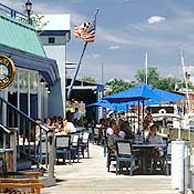 Pusser's Caribbean Grille is where Woodwind is docked
