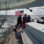 Sailing fast up the Chesapeake back to Annapolis