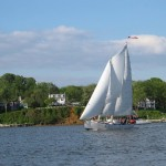 Schooner Sailing up the Severn River