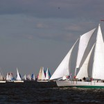 Schooner Woodwind racing on Wednesday Nights in Annapolis