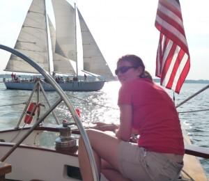 Work on the Schooner Woodwind on the Chesapeake Bay