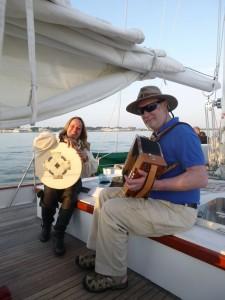 Hangman's Faire perfroming on sunset sail on Schooner Woodwind