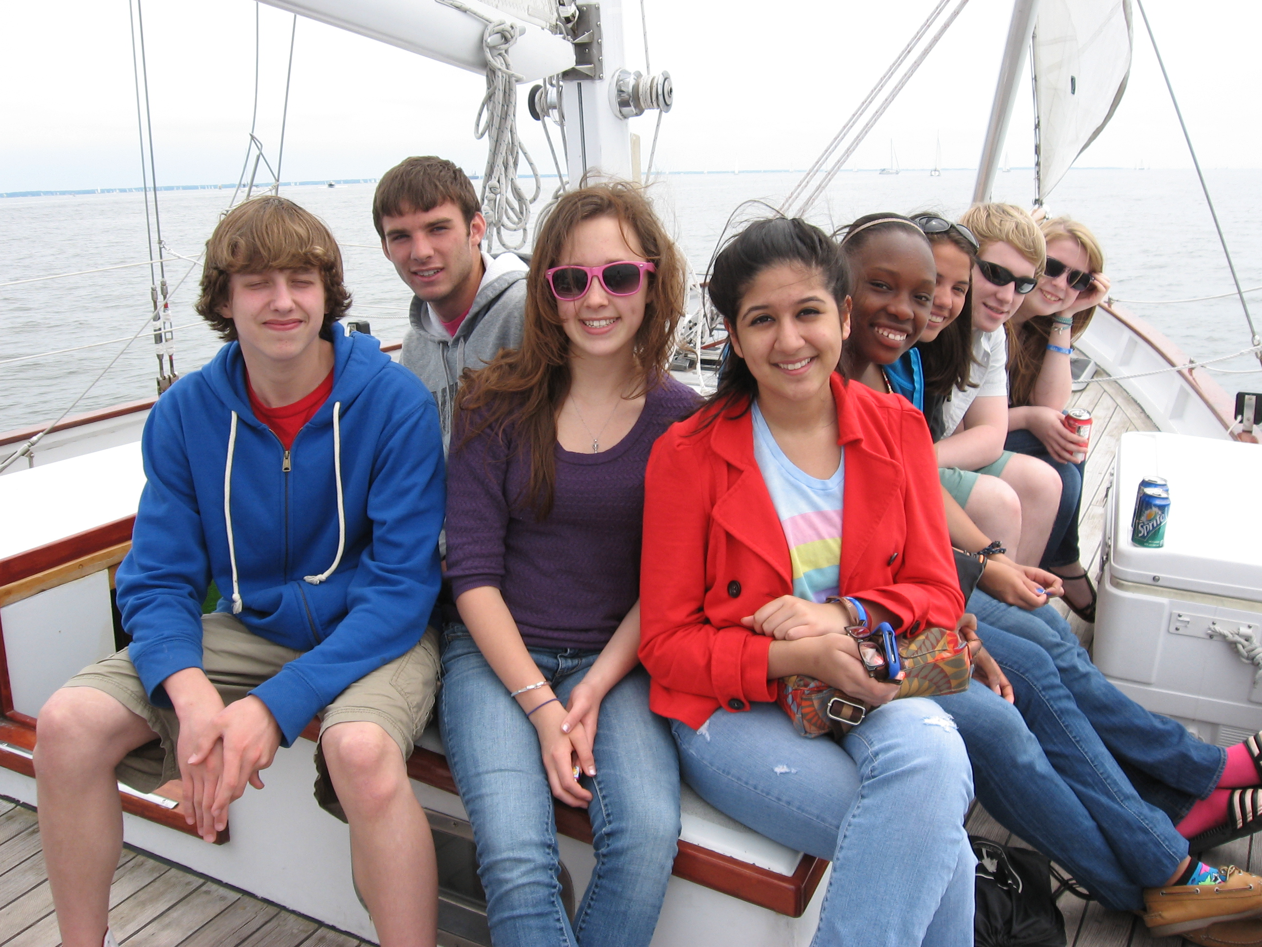 Student Group Sailing on the Woodwind