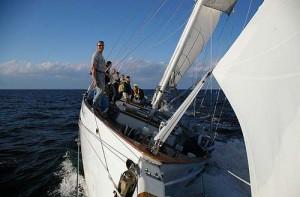 Team Building under full sail on Schooner Woodwind