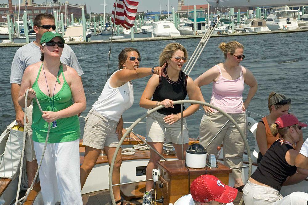 Team Building in Annapolis, under full sail