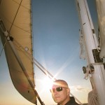 Steve the day before stem cell transplant sailing on the schooner