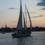 Schooner with Annapolis skyline