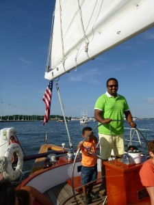 Happy Father's Day aboard the Schooner Woodwind