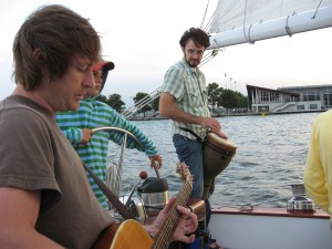 Local Musicians signing onboard the Woodwind