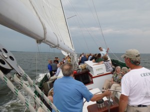 Sailing on Woodwind with cool breezes