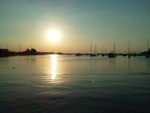 Sunrise over Annapolis Harbor from Schooner Woodwind Boat & Breakfast