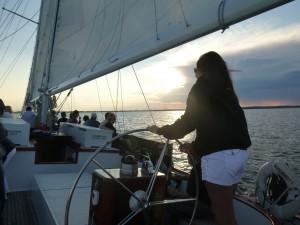 Sailing the Schooner Woodwind at sunset!