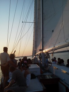 Sailing into the sunset on Woodwind