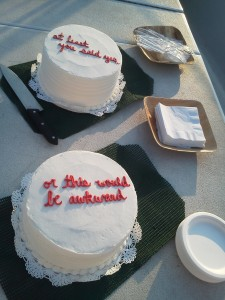 Cakes that were ordered for this special occasion